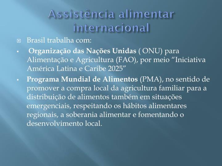 Assistência alimentar internacional