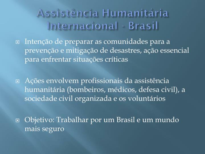 Assistência Humanitária Internacional - Brasil