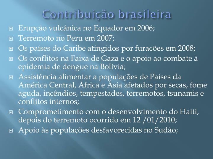 Contribuição brasileira