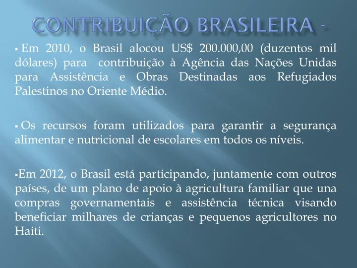 Contribuição brasileira -