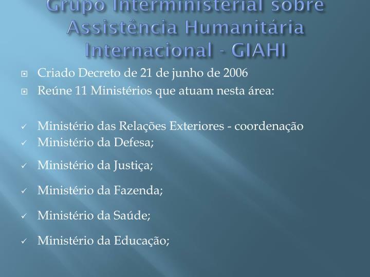 Grupo Interministerial sobre Assistência Humanitária