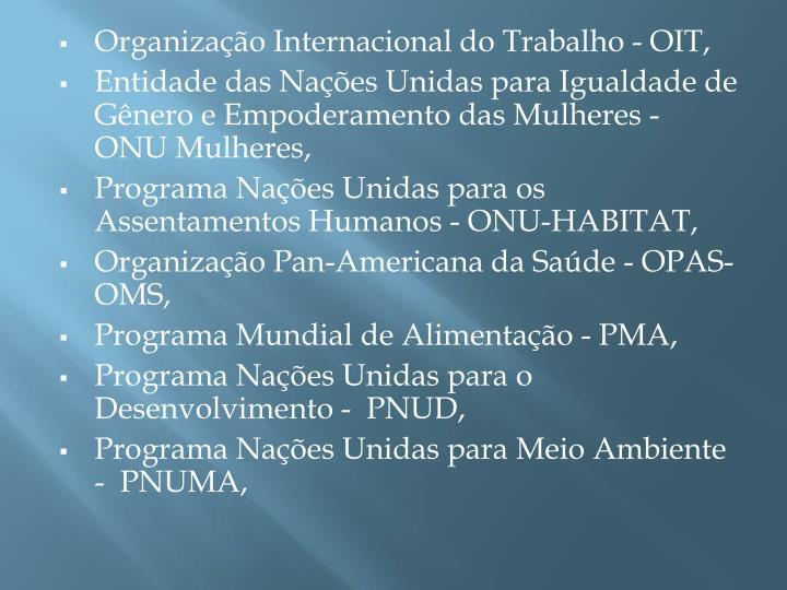Organização Internacional do Trabalho - OIT,