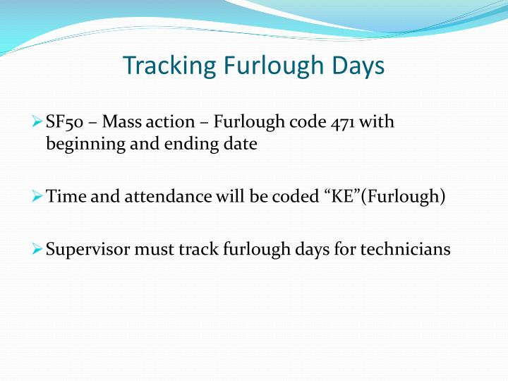 Tracking Furlough Days