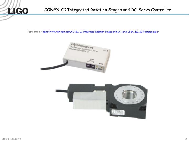 CONEX-CC Integrated Rotation Stages and DC-Servo Controller