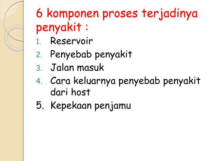 6 komponen proses terjadinya penyakit :