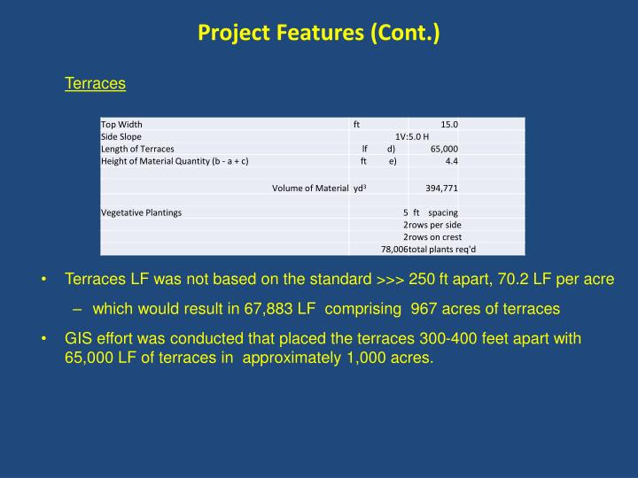 Project Features