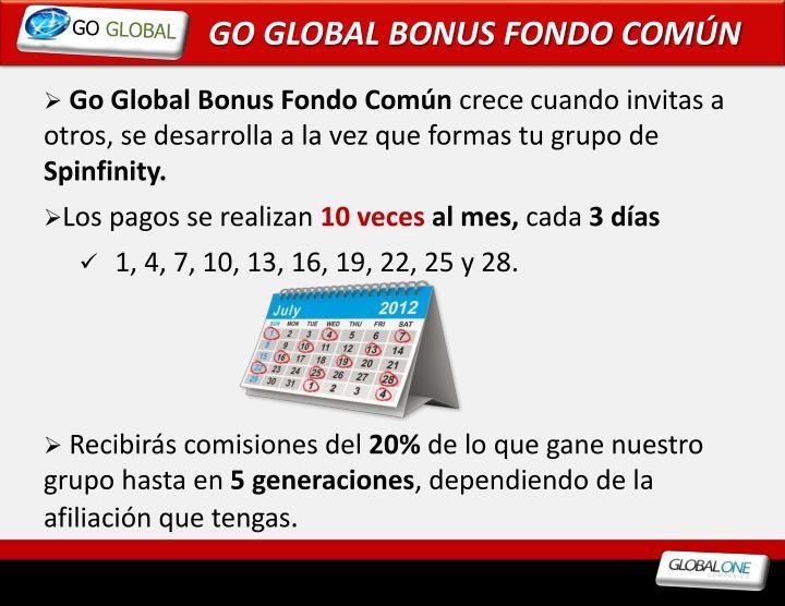 GO GLOBAL BONUS FONDO COMÚN