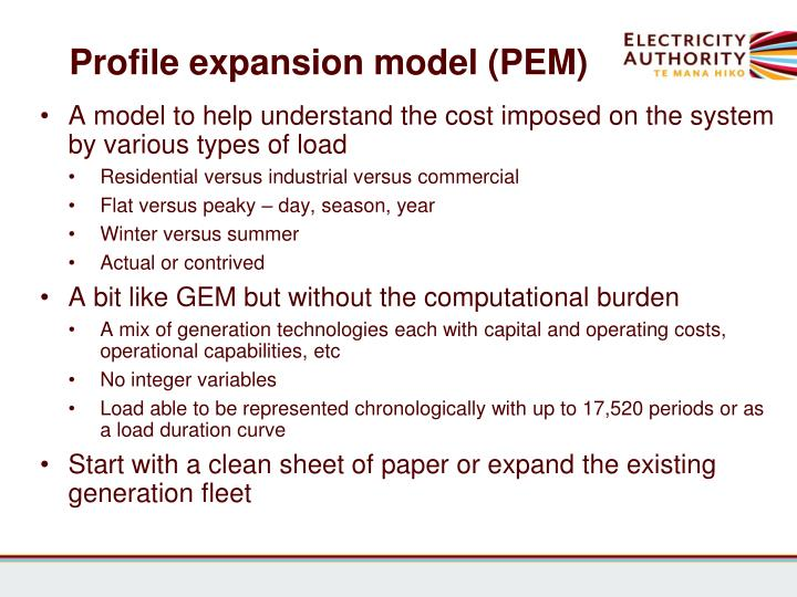 Profile expansion model (PEM)