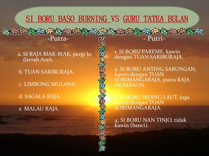SI BORU BASO BURNING