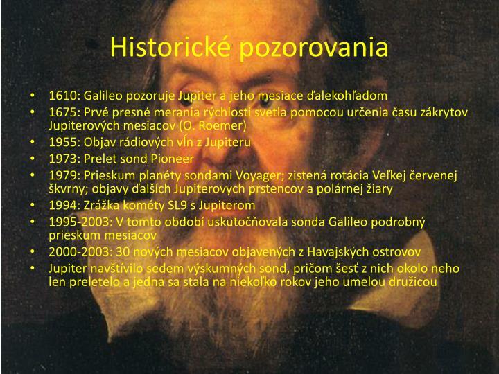 Historické pozorovania