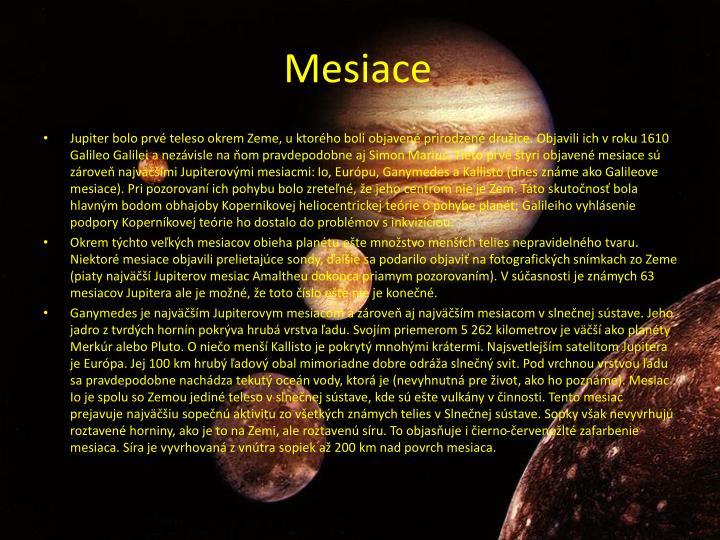 Mesiace