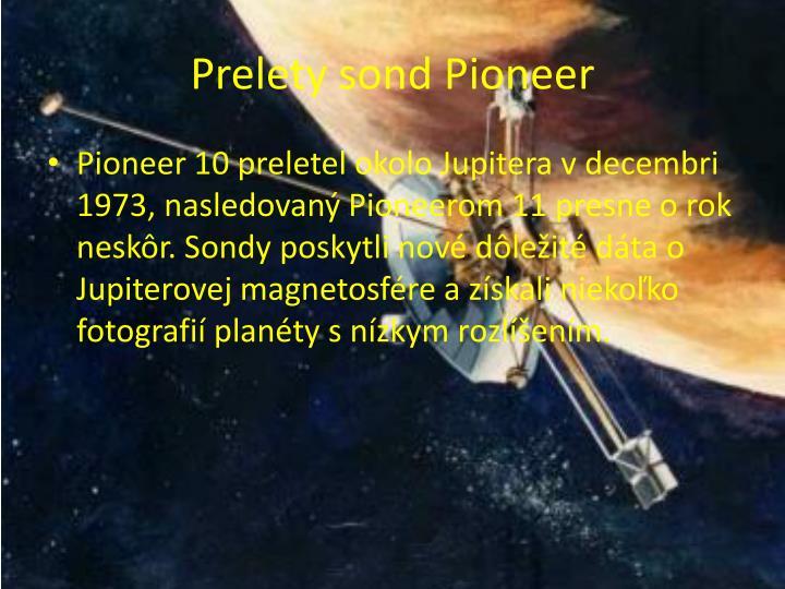 Prelety sond