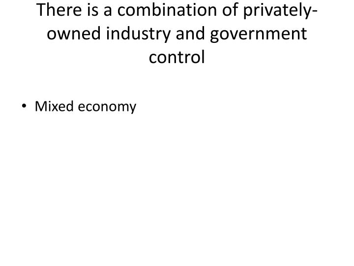 There is a combination of privately-owned industry and government control