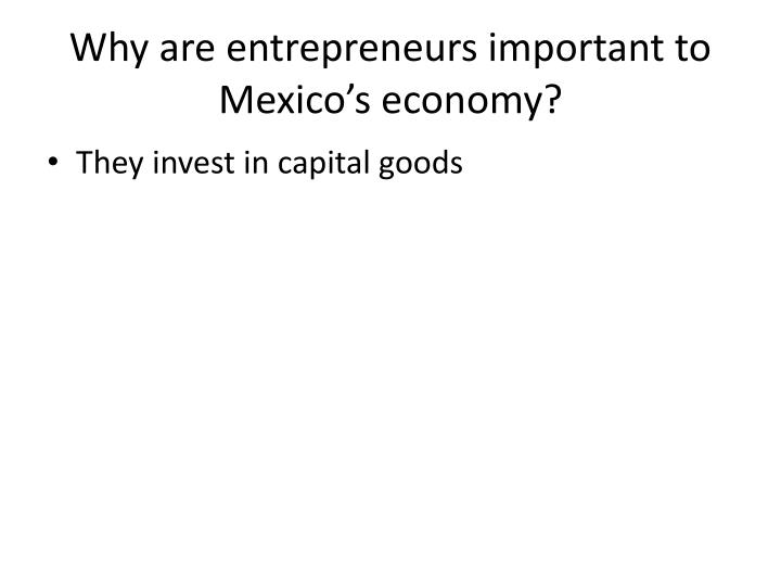 Why are entrepreneurs important to Mexico's economy?