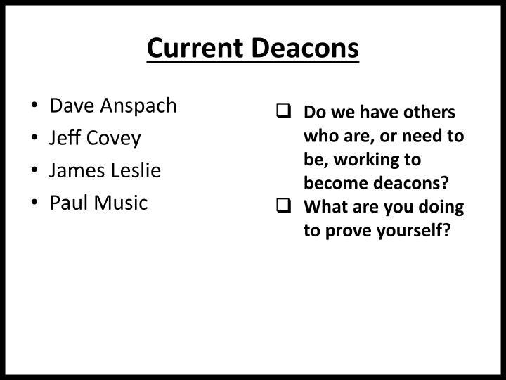 Current Deacons