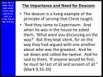the importance and need for deacons1