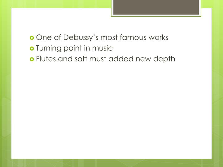 One of Debussy's most famous works
