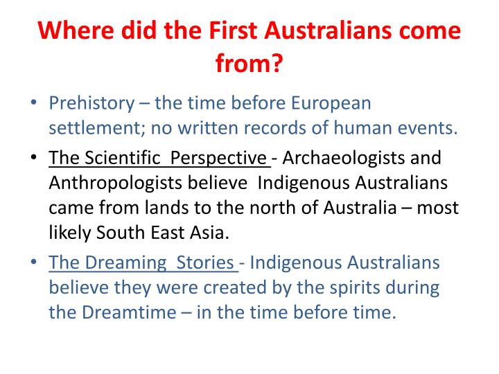 Where did the First Australians come from?