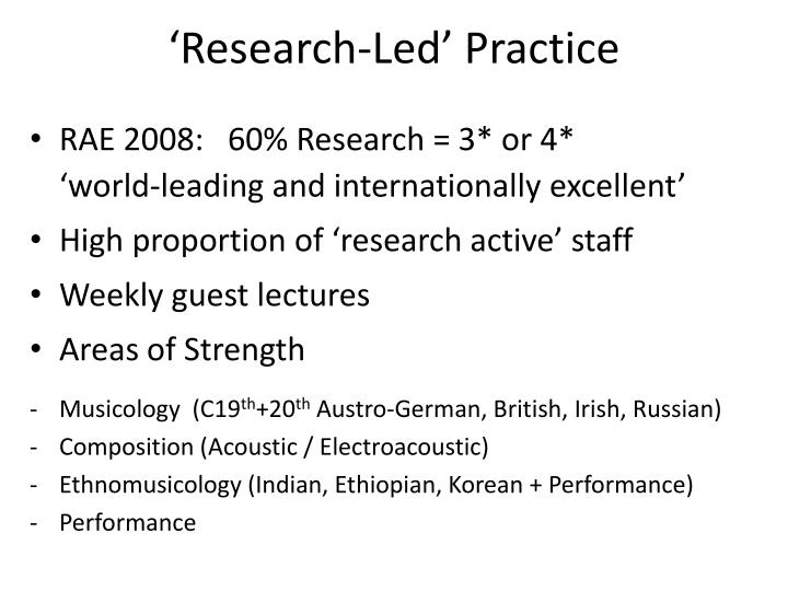 'Research-Led' Practice