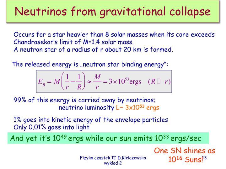 Neutrinos from gravitational collapse