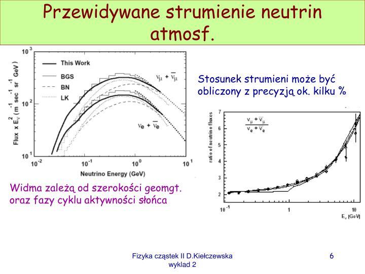 Przewidywane strumienie neutrin