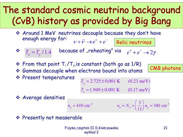 The standard cosmic neutrino background (