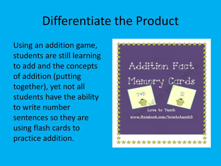 Differentiate the Product