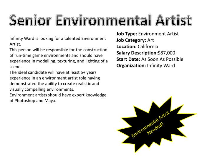 Senior Environmental Artist
