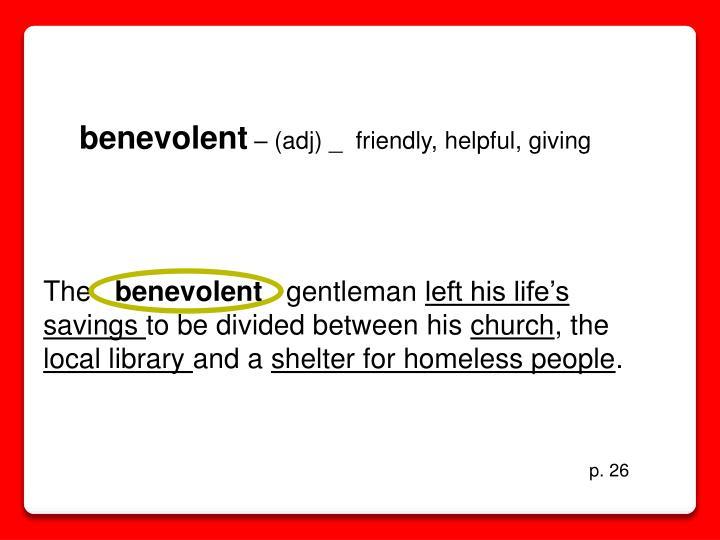 benevolent