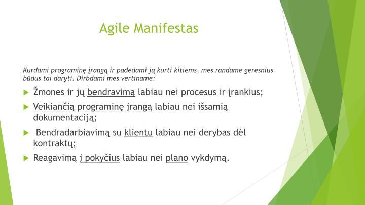 Agile Manifestas