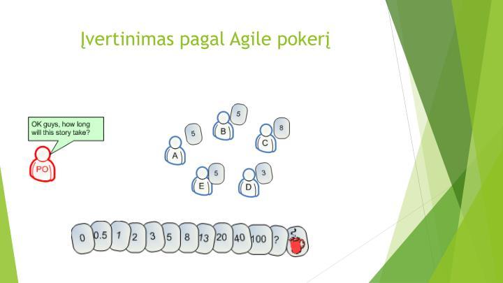 Įvertinimas pagal Agile pokerį