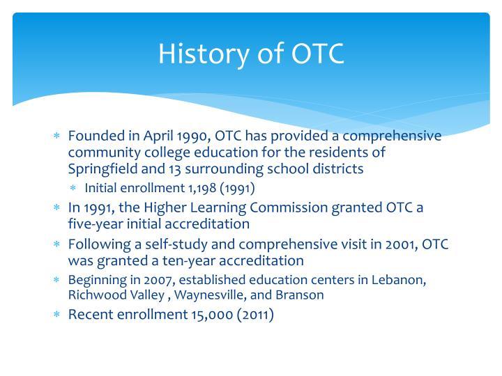 History of OTC