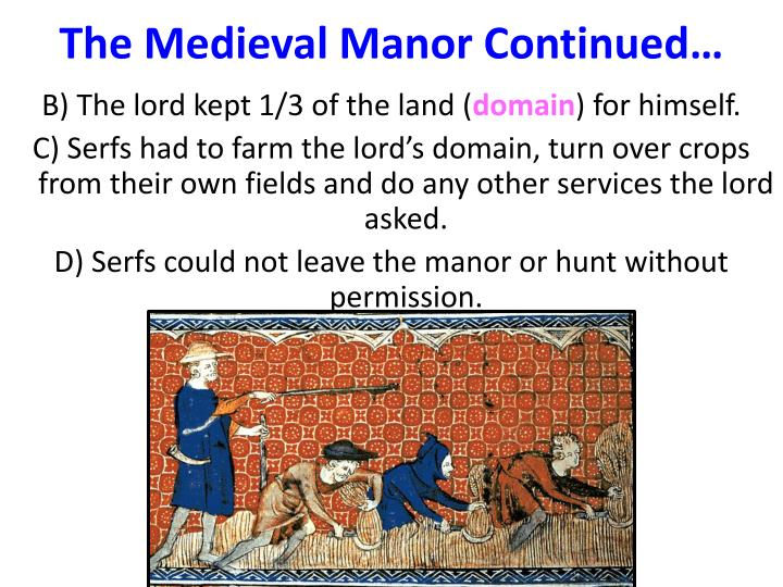 The Medieval Manor Continued…