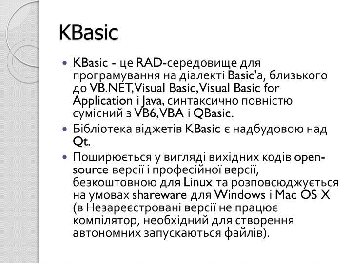 KBasic