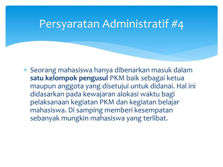 Persyaratan Administratif #4