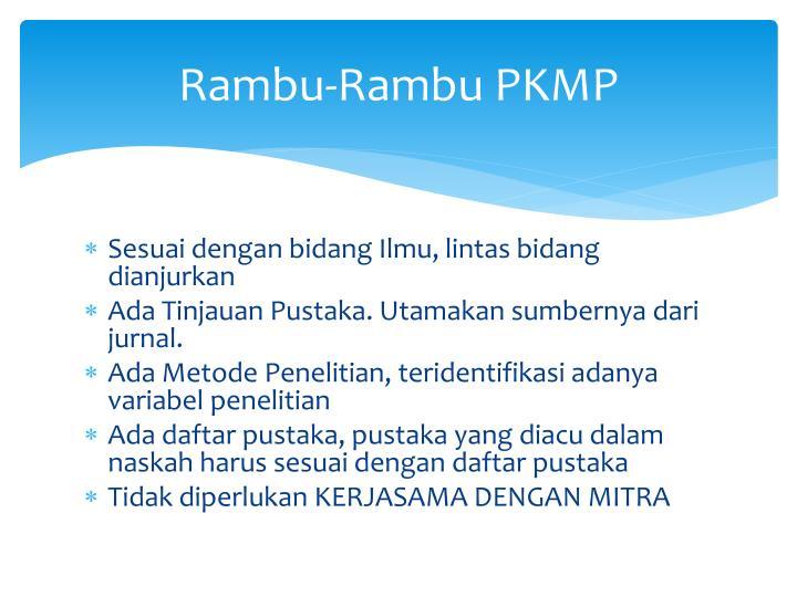 Rambu-Rambu PKMP