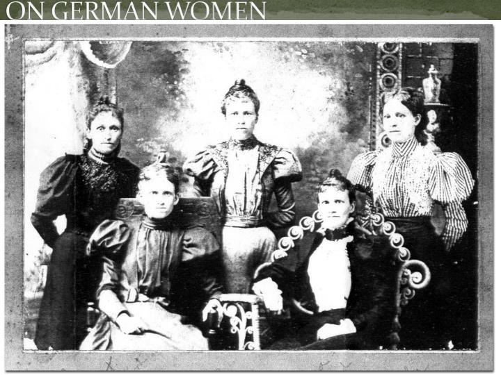 ON GERMAN WOMEN