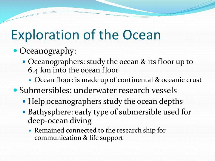 Exploration of the Ocean