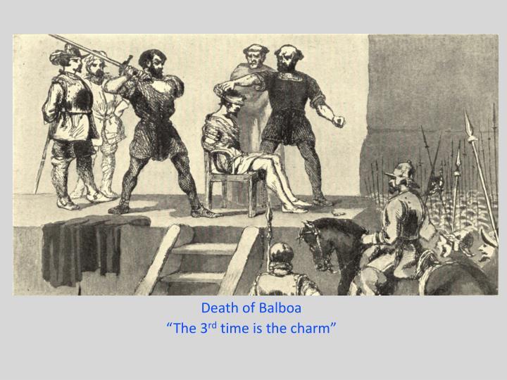 Death of Balboa