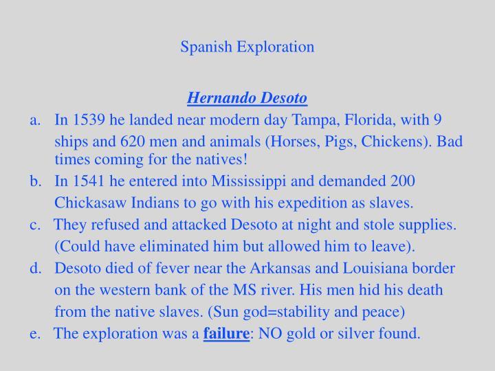 Spanish Exploration