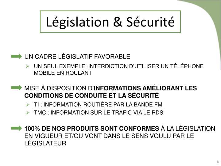 Législation & Sécurité