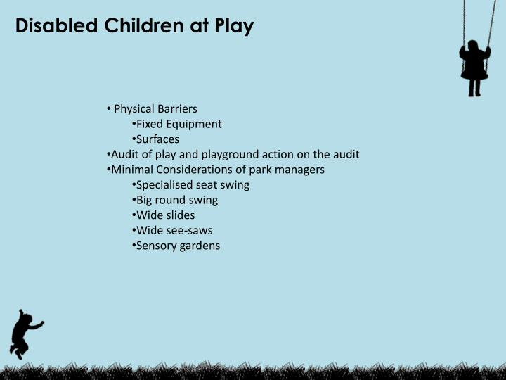 Disabled Children at Play