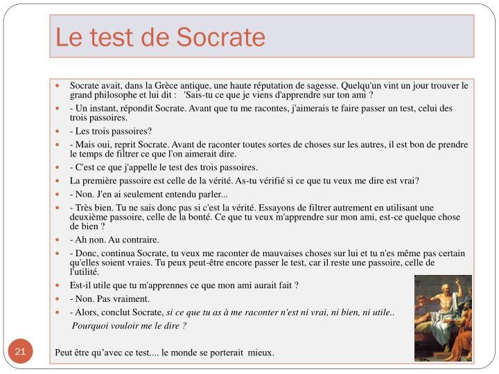 Le test de Socrate