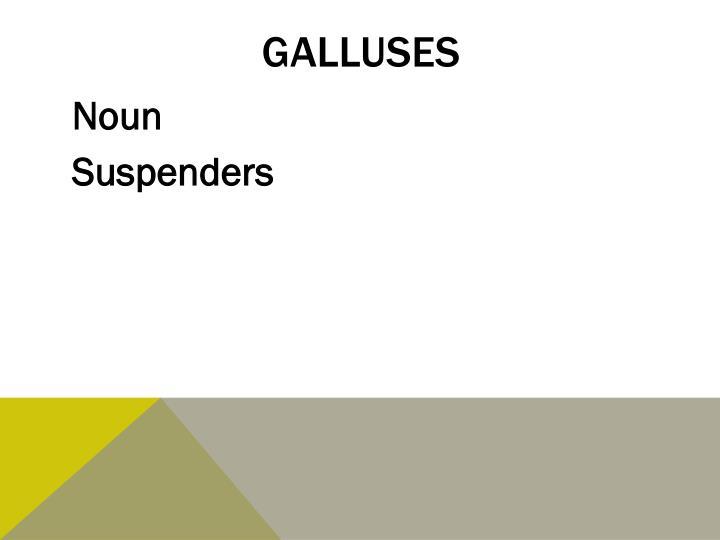 galluses