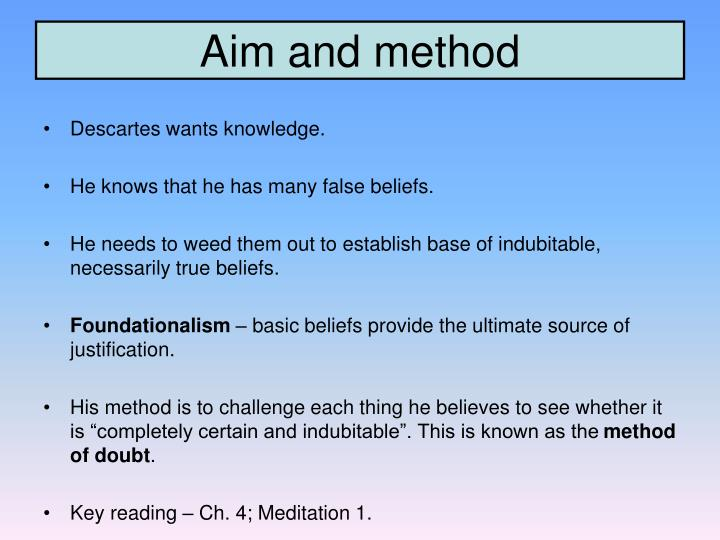 Aim and method