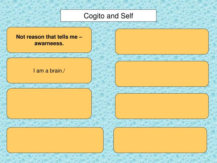 Cogito and Self
