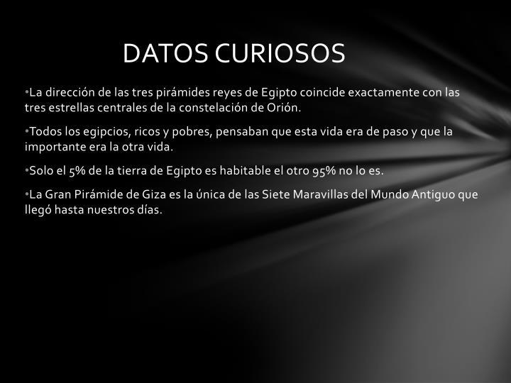 DATOS CURIOSOS