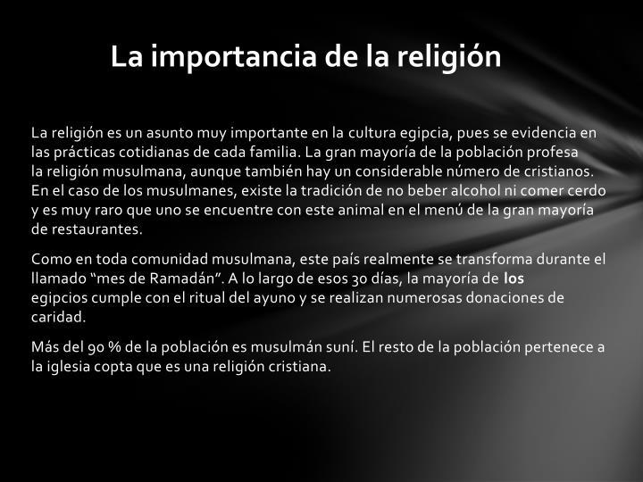 La importancia de la religión