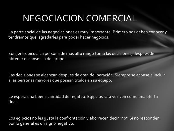 NEGOCIACION COMERCIAL