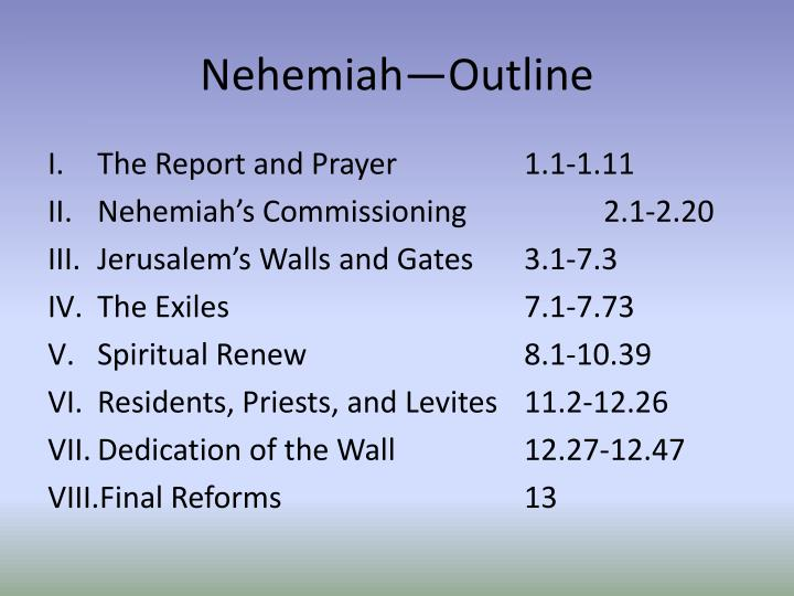 Nehemiah—Outline